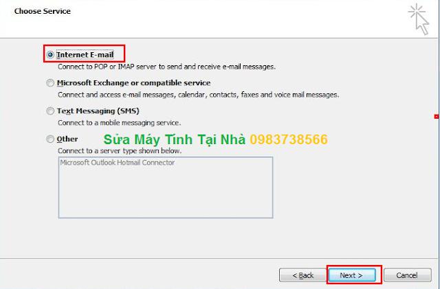 Cài đặt Mail trên Microsoft Outlook 2010 - H04