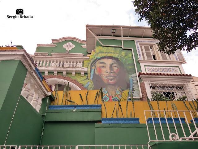 Vista do casarão antigo que abriga o Hostel Brasil SP - Santana - São Paulo
