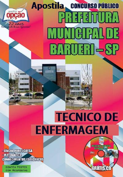Apostila Prefeitura de Barueri (SP) Técnico de Enfermagem - PMB