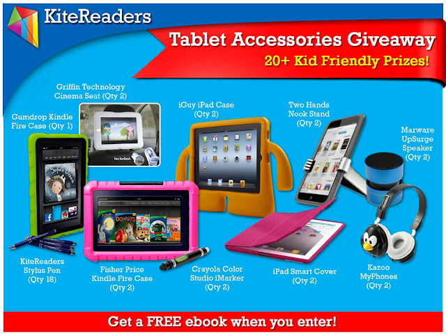 Win a Kite Readers Tablet Accessory Package at Crazylou