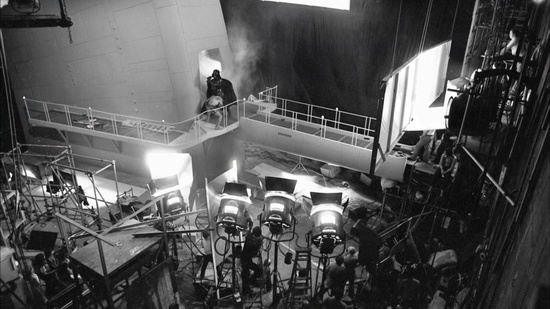 empire strikes back behind the scenes gantry shot