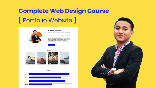 How to Create Portfolio Website with HTML and CSS?