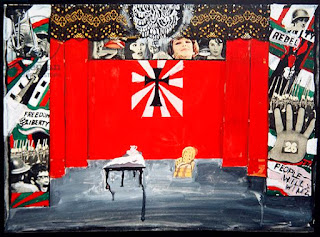 Pauline Boty, stage set for The Balcony, Jean Genet