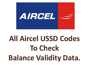 All USSD Codes for aircel
