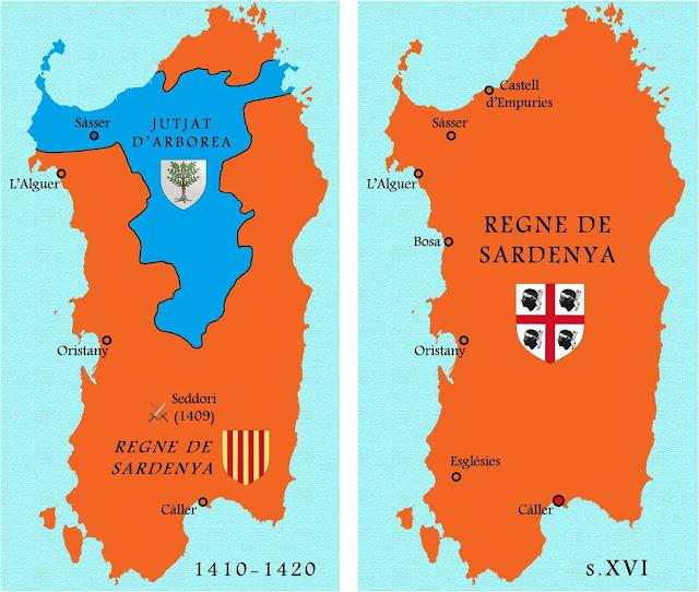 Mapa Sardenya catalano-aragonesa