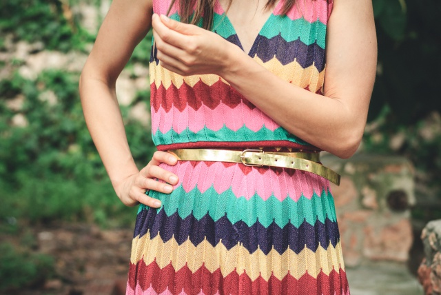 Colorful dress Zara