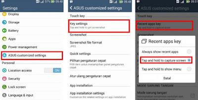Cara Mudah Melakukan Screenshot / Capture Screen Pada ASUS Zenfone Series