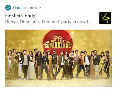 Notification from Hotstar