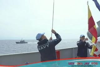 Untuk Mantapkan Olah Gerak Kapal, KRI Sultan Hasanuddin-366 Latihan Bersama Dua Kapal Perang Lebanon