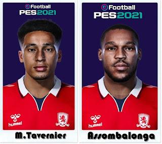 PES 2021 Faces Britt Assombalonga & Marcus Tavernier by Shaft