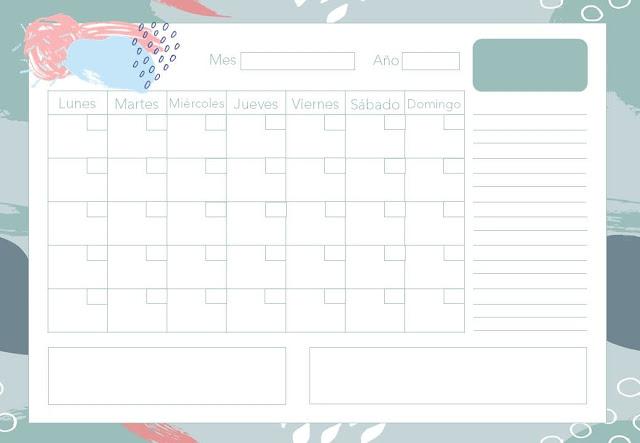 Calendario mensual Abstracto gratis
