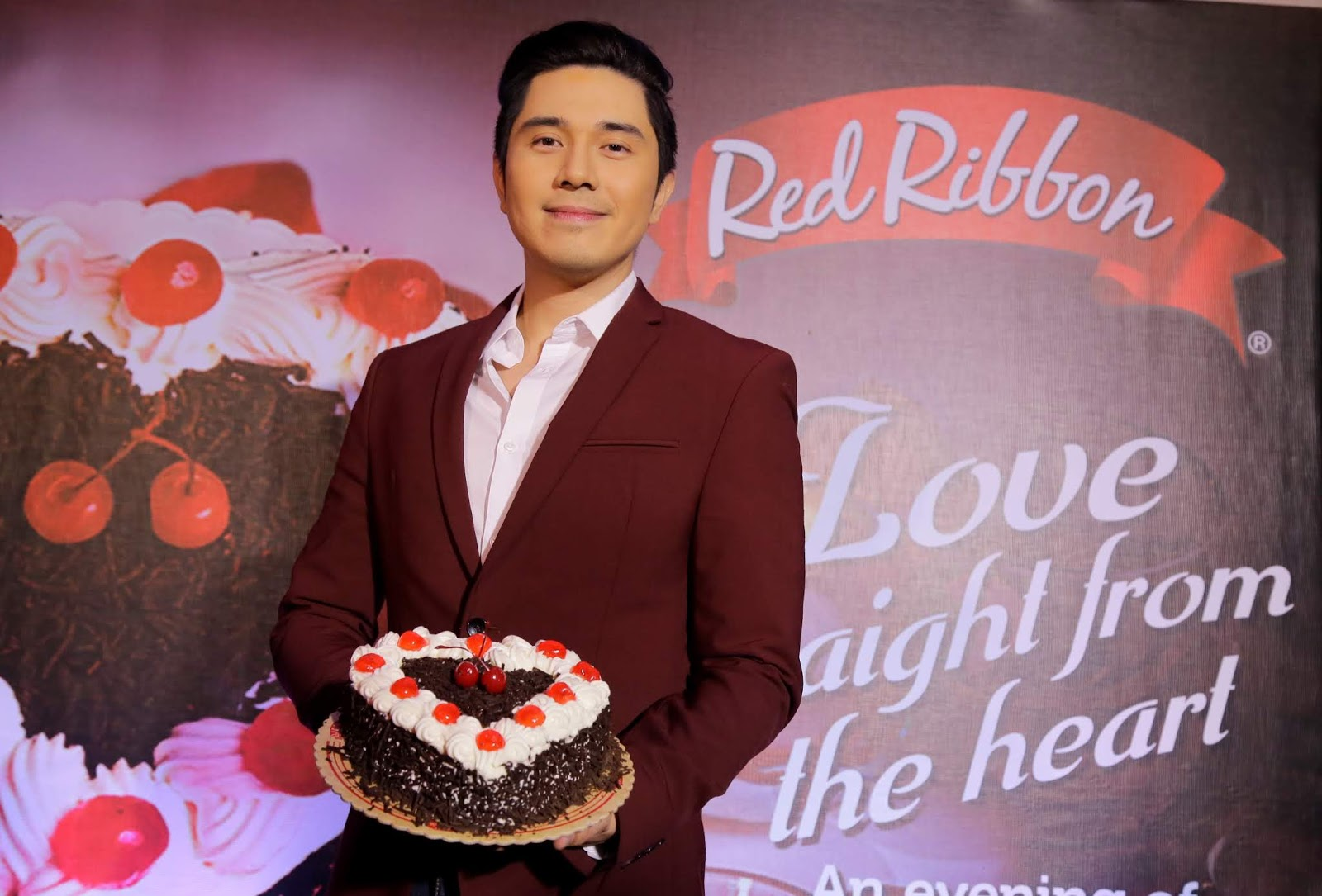 Couples can share love straight from the heart with the Red Ribbon  Valentine Black Forest Cake daabbdb3e98b