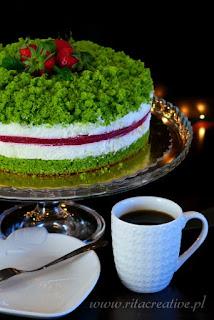 ciasto szpinakowo truskawkowe