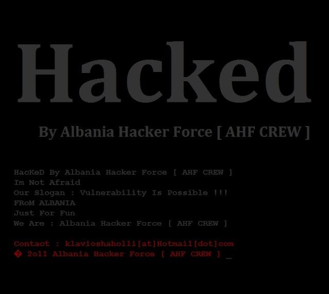 151 websites Got hacked By Albania hacker Force [AHF CREW]