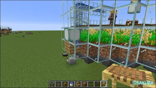 Minecraft 自動小麦農場 耕作地 水源の配置