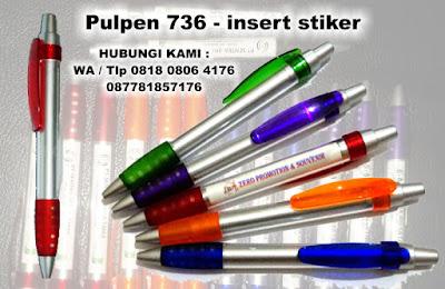 pen plastik insert paper 736, pen full colour, pen insert paper, pen promosi 736, pen stiker, pen stiker promosi, Souvenir Promosi Pen Plastik 736