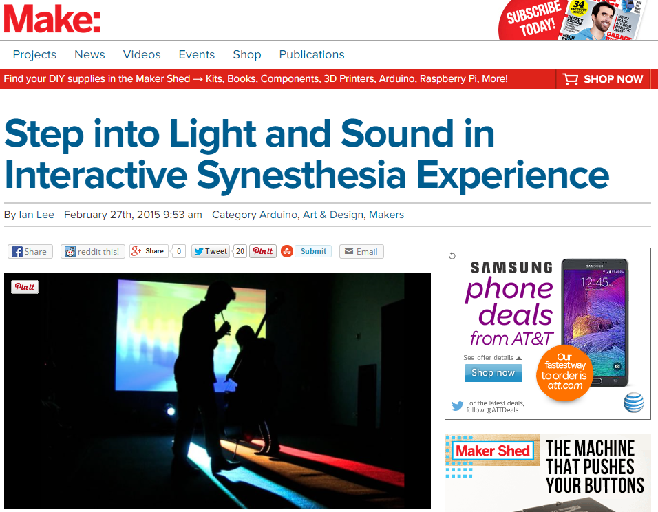 Software & Sawdust: MAKE: Step into Light and Sound in Interactive