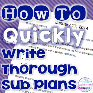Spending some time creating a sub plan template will save you time and energy on days you have to be gone from your classroom.