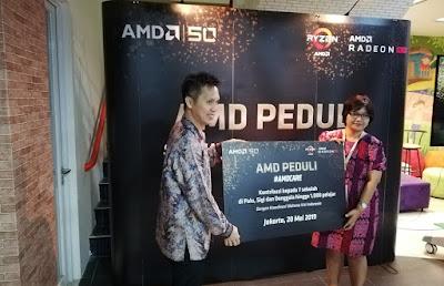 AMD Berikan Bantuan ke Korban Bencana Gempa dan Tsunami Sulawesi Tengah (Endah/Teknogav.com)