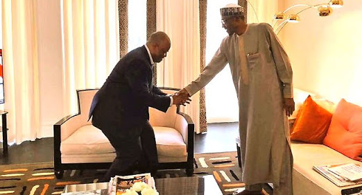 Photo Of Akpabio With President Buhari In London