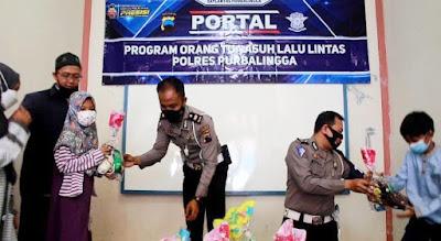 Satlantas Polres Purbalingga Meluncurkan Program Orang Tua Asuh Lalu Lintas (Portal)