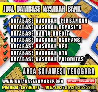 Jual Database Nasabah Bank Wilayah Sulawesi Tenggara