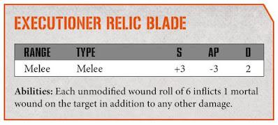executioner relic blade