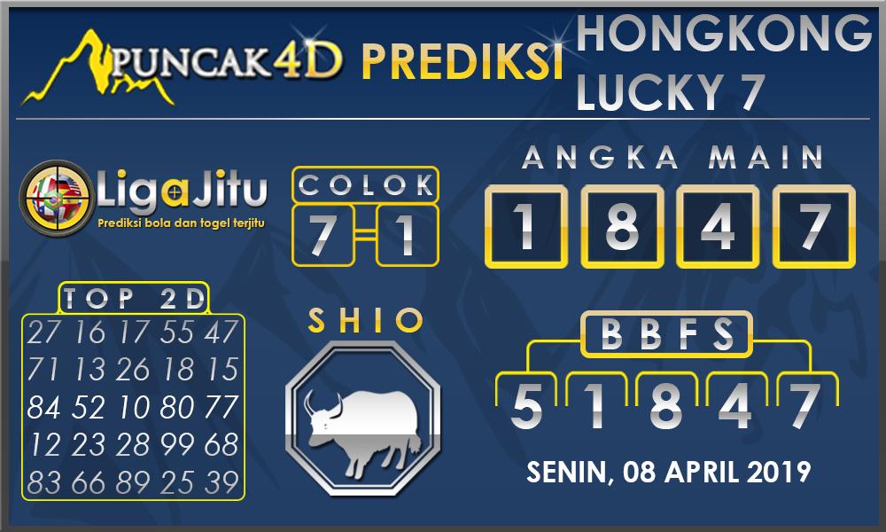 PREDIKSI TOGEL HONGKONG LUCKY7 PUNCAK4D 08 APRIL 2019