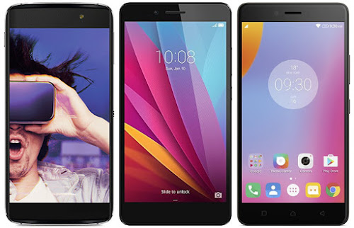 Alcatel Onetouch Idol 4 vs Honor 5X vs Lenovo K6