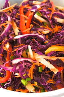 Mexican Slaw with Cumin Lime Dressing: Savory Sweet and Satisfying