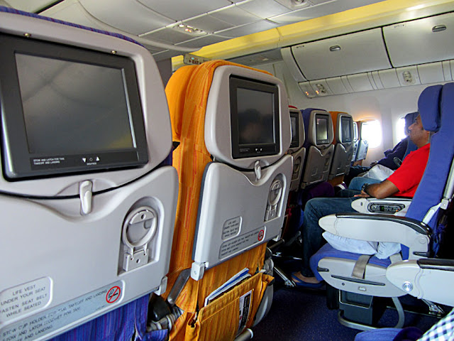 aircraft seats close-up