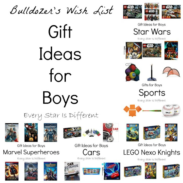 Gift ideas for boys.