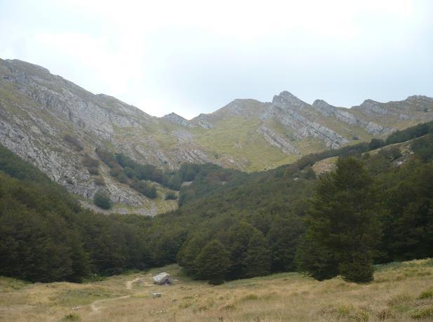 valle del prataccio alle  sorgenti secchia