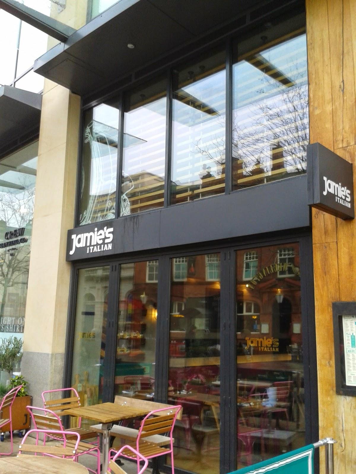 Exterior of Jamie's Italian, Cardiff