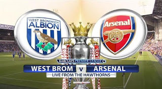Susunan Pemain West Brom vs Arsenal, Ozil Absen