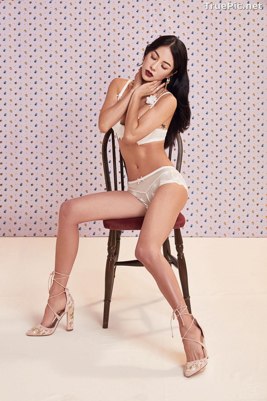 Image Korean Fashion Model - An Seo Rin - White Lingerie and Sleepwear Set - TruePic.net - Picture-5