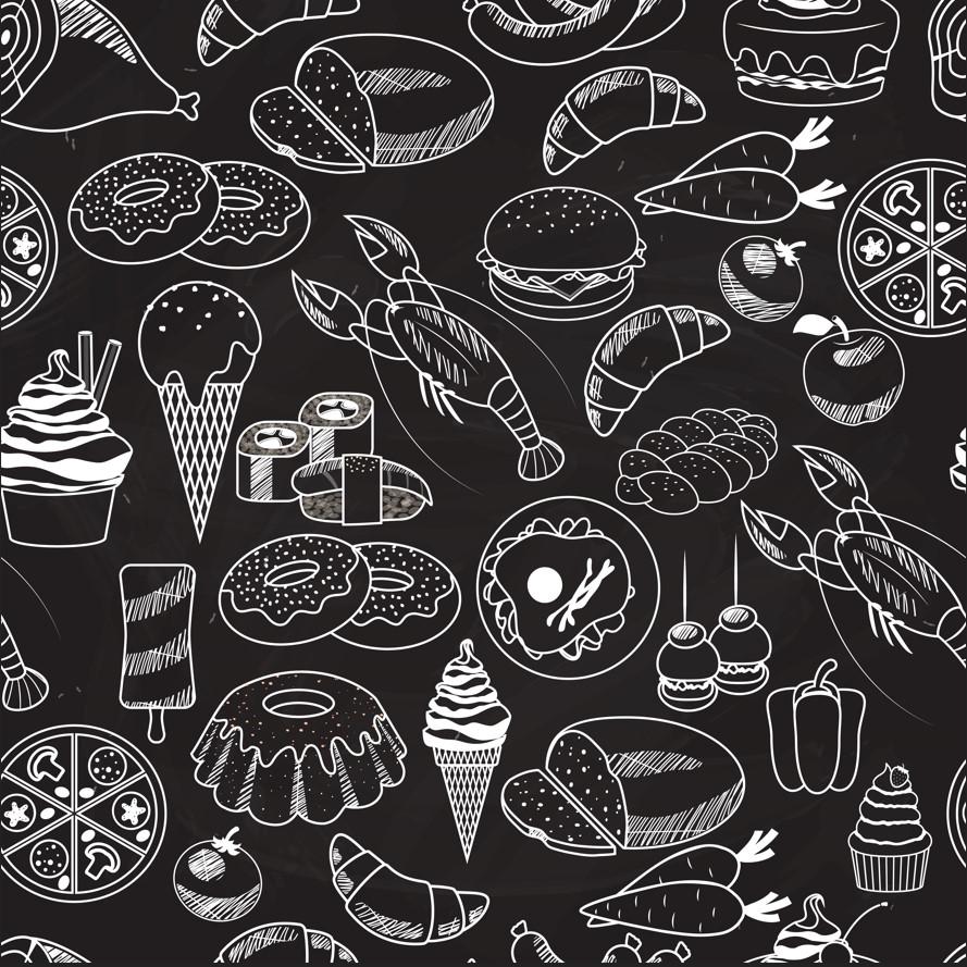 مجموعة خلفيات اطعمة متوفرة بصيغة فيكتور فوتوشوب