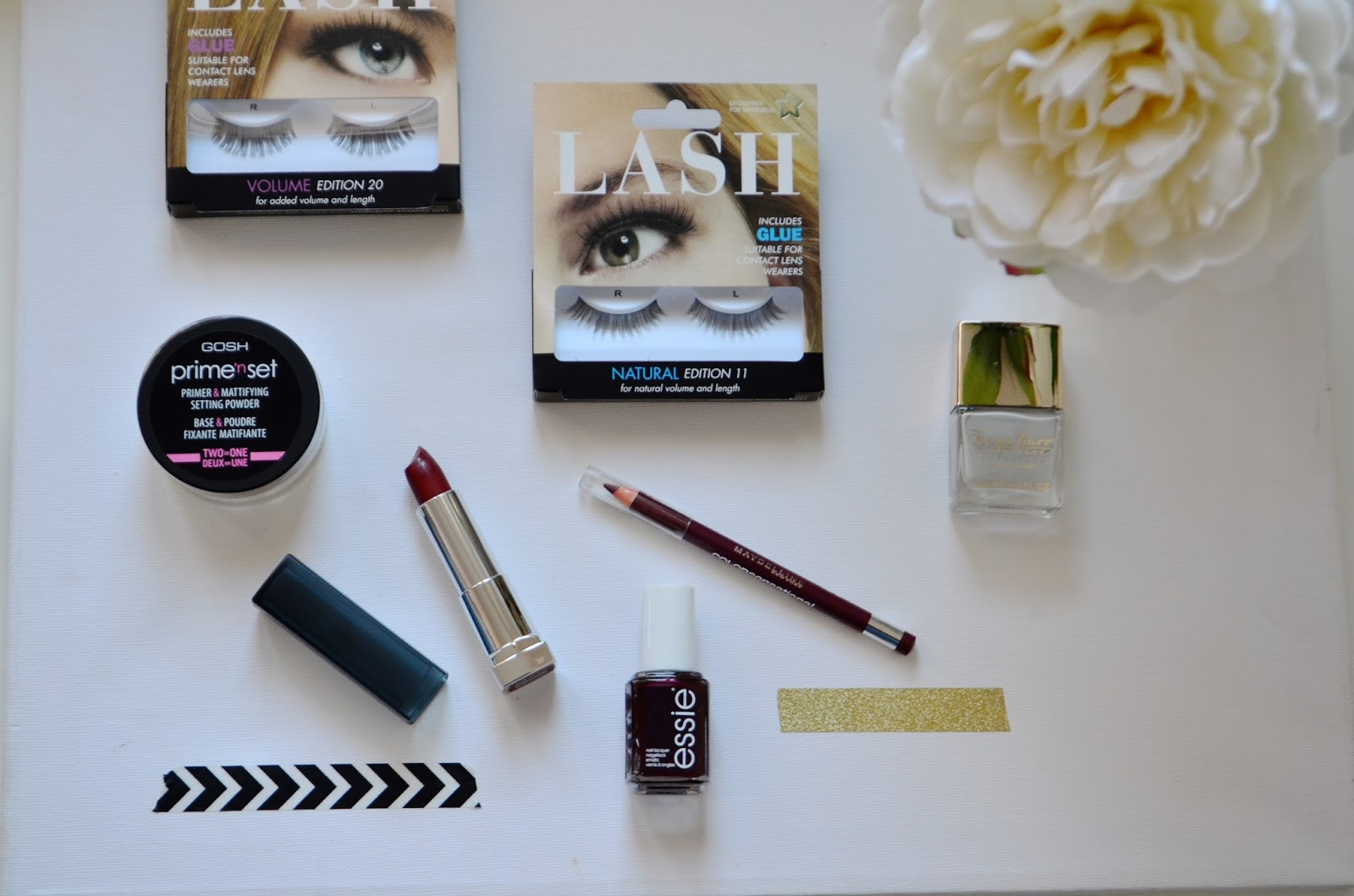 Beauty, Make up, Drugstore, Superdrug, super drug haul, Drugstore Haul, false lashes, a/w make up, a/w beauty products, Maybelline, tanya burr, Essie, Gosh,