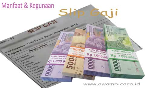 manfaat dan kegunaan serta fungsi dari slip gaji