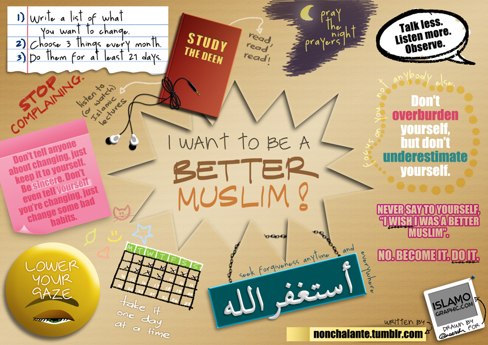 To be a better muslim, how to be a better muslim, muslim, muhasabah, be a better muslim