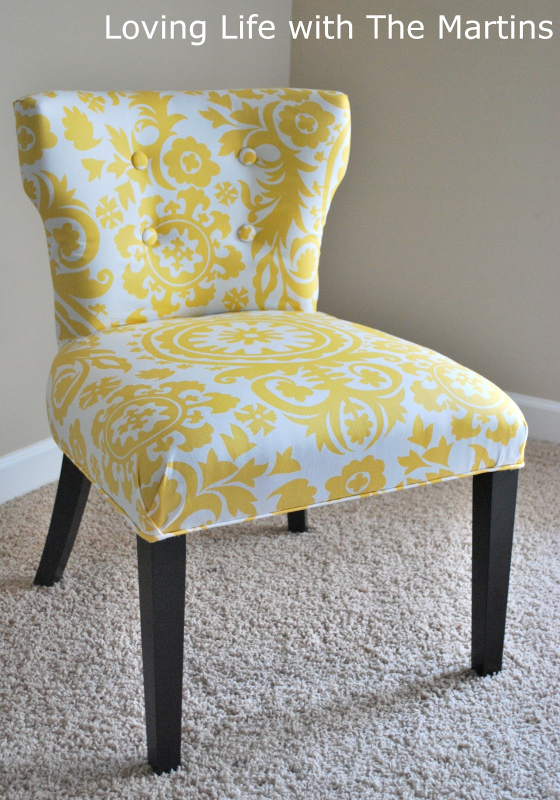 Reupholstering A Chair Wood Side Loving Life With The Martins How To Reupholster