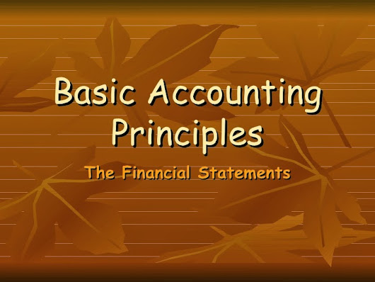 What are the basic accounting principles for small business?