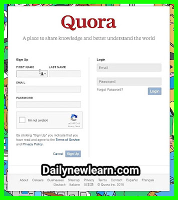 How to create Quora Account full details