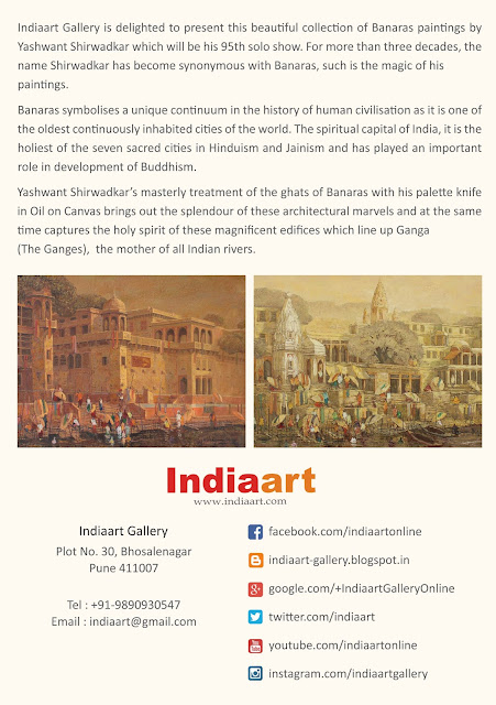 "About the show ""Banaras"" at Indiaart Gallery"