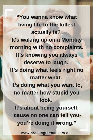 You wanna know what living life to the fullest actually is? It's waking up on a Monday morning with no complaints. #quotes