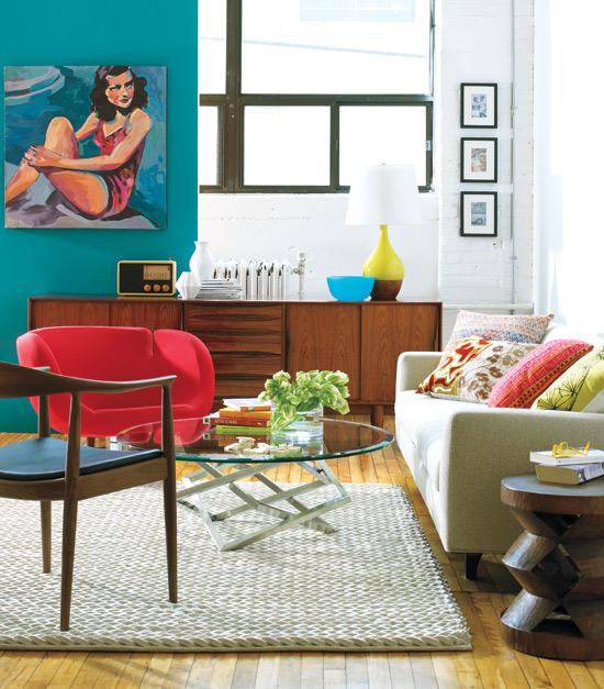 New Home Interior Design: Trend: Bold '80s Colour