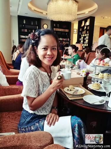 High tea in Raffles Hotel