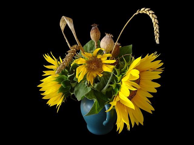 binh hoa huong duong dep nhat