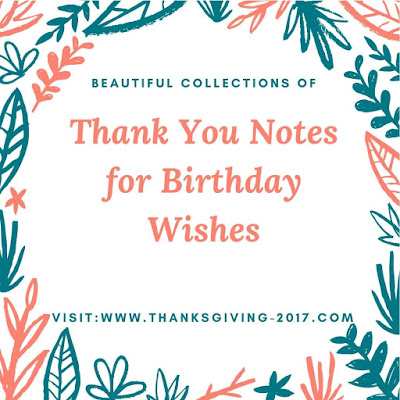 Image of Thank You Notes for Birthday Wishes