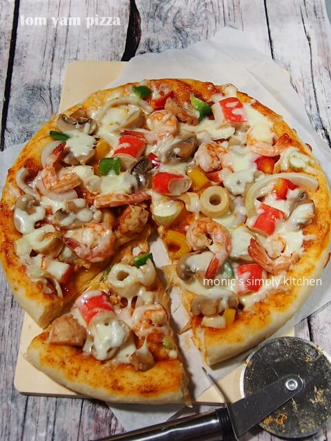 resep pizza tom yam